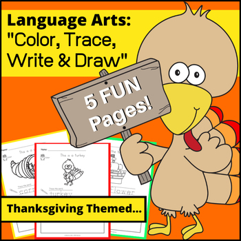 Color, Trace and Draw - Thanksgiving Edition