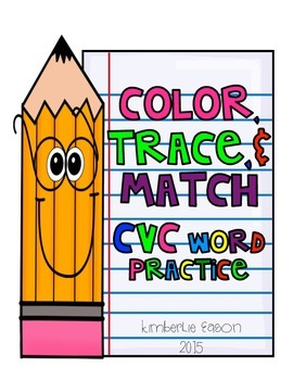 Color, Trace, and Match CVC Word Practice