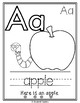 Color, Trace, and Read A-Z Coloring Pages