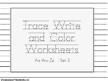 Color Trace and Write Set 3