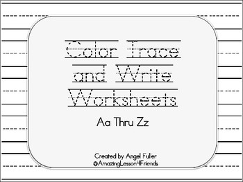 Color Trace and Write Worksheets Set 2