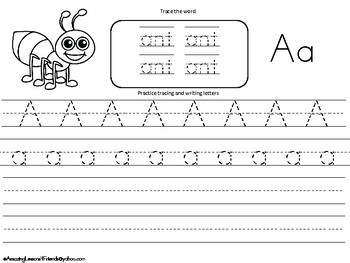 Color Trace and Write Worksheets Set 1