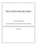 Practice Counting Atoms Simple Examples (great for interac
