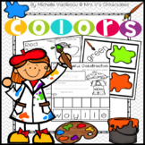 Teaching Colors Unit: Worksheets and Color Centers