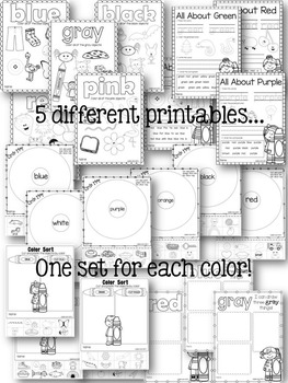 Color Unit for Kindergarten