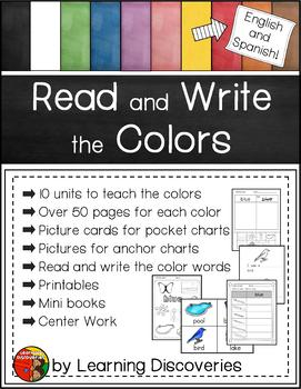 Read and Write the Colors in English and Spanish