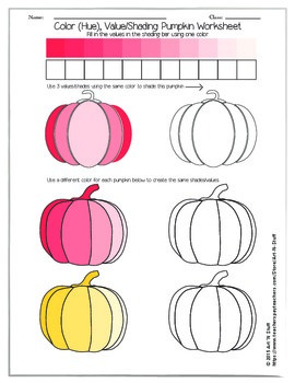 Color Value Pumpkin Worksheet