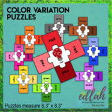 Color Variation Puzzles - Lightbulbs - Distance Learning