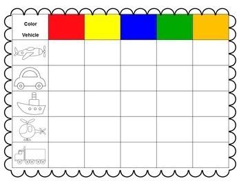 Color + Vehicle Matrix Game