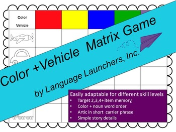 Color + Vehicle Matrix Game