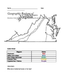 Color Virginia Regions Worksheet