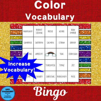 Color Vocabulary Bingo