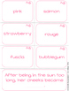 Color Vocabulary {Shades of Meaning Synonym Sorting Cards}