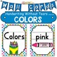 FREE Color Wall Cards: Handwriting Without Tears -style font