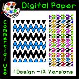 Color Wave Length - Digital Paper / Background {Simple Clips}