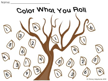 Color What You Roll Fall Leaves {Freebie}