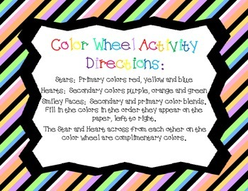 Color Wheel Art Activity