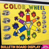Color Wheel Bulletin Board: Color Family Posters For Elementary Art Rooms