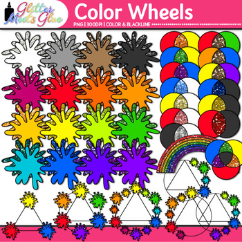 Color Wheel Clip Art {Lesson Ideas for Color Theory, Paint