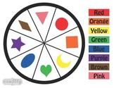 Color Wheel Clothespin Activity