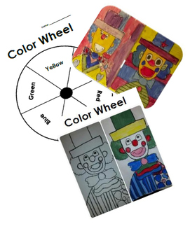 Color Wheel Clown and Template