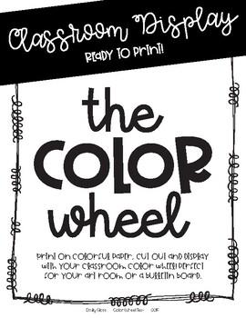 Color Wheel Display Text