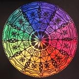 Color Wheel Mandala Art Project