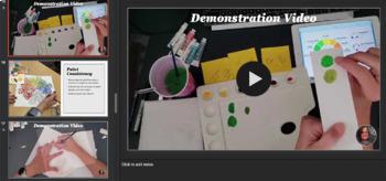 Color Wheel Motif - Mandala color wheel Art Lesson