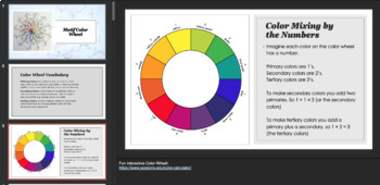 High School, Middle School Art Lesson - Color Wheel Motif - Mandala color wheel