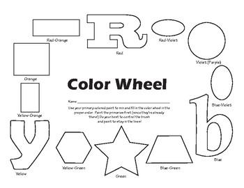 Color Wheel Paint Practice