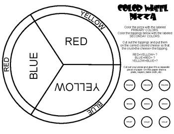 Color Wheel Pizza