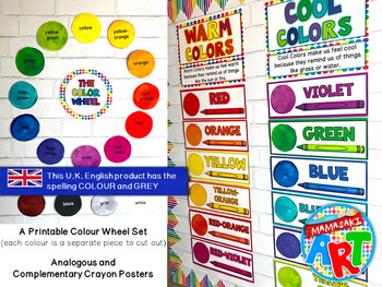Color Wheel Poster Set (U.K. Spelling)