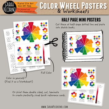 Color Wheel Posters and Worksheets