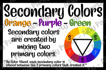 Color Wheel - Primary/Secondary/Tertiary Poster Bundle!