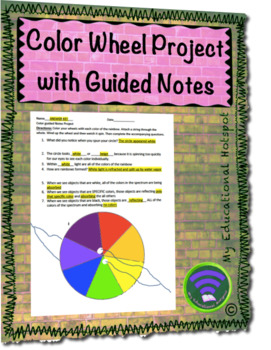 Color Wheel Project With Guided Notes By My Educational Hotspot Tpt