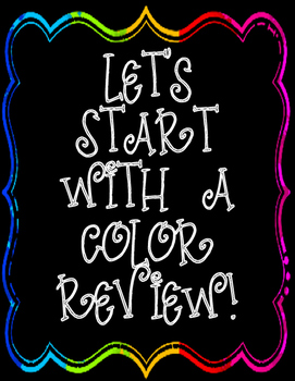 Color Wheel Review of the Basics with practice sheets