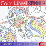 Color Wheel Spinners & Color Theory Art Lessons for Distance Learning Art
