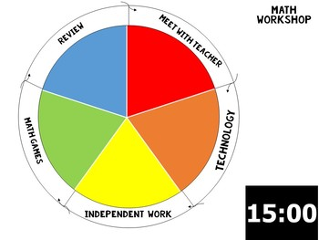 Color Wheel 4,5,6 Stations for Reading and Math Workshop [Editable]