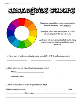 Color Wheel, Primary/Secondary/Intermediate, Analogous, Complementary Bundle