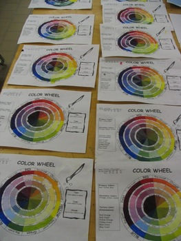 Color Wheel Template (Tints, Tones, Shades)