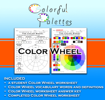 Color Wheel With Tints And Shades Elements Of Art Color Tpt