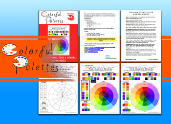 Color Wheel with Tints and Shades - Elements of Art : Color