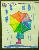 Color Wheel Umbrella - Colors in Art worksheet
