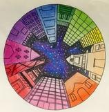 Color Wheel: Vanishing Point City Buildings