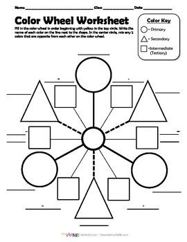 Color Wheel Worksheet & Poster