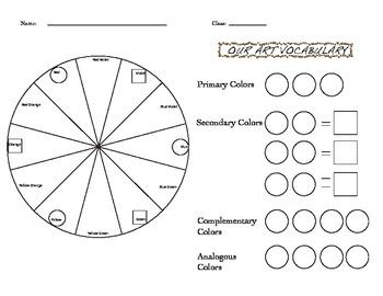 Color Wheel Worksheets
