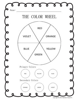 Color Wheel & Color Mixing Worksheets in English and Spanish