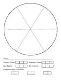 Color Wheel worksheet- primary, secondary, cool, warm and
