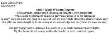 Color While Without Regrets