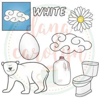 Color White Clip Art